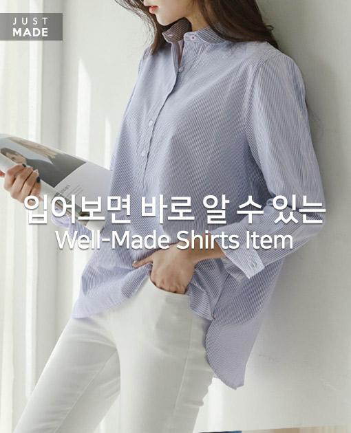<br> OA0204BB_ウィークリーラウンドカラーストライプシャツ