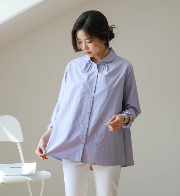 <br> 7DA16685GG_マスラウンドカラーAラインシャツ
