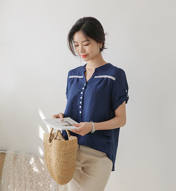 <br> 7DA16986AA_リブレイスハーフオープンシャツ