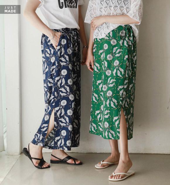 <br> 9OA0235GG_ホットサマーエスニックスカート&パンツ