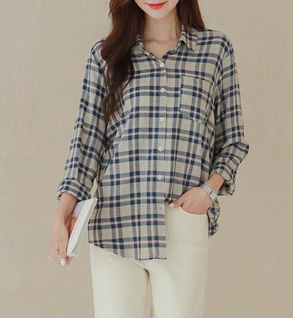 <br> 9DA17629HH_ハンガリーソフトチェックシャツ