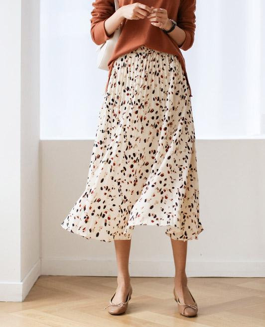 <br> 9DA17876AA_ナットプリンティングプリッツスカート